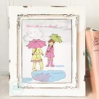 Rainy Day Best Friends Nursery Wall Art