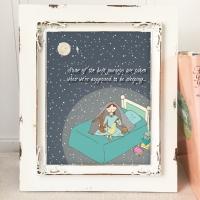 Night Reading Nursery Art Prints