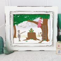 George and the Dragon Nursery Art