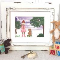 Reading Nursery Art, Book themed art prints, golden compass