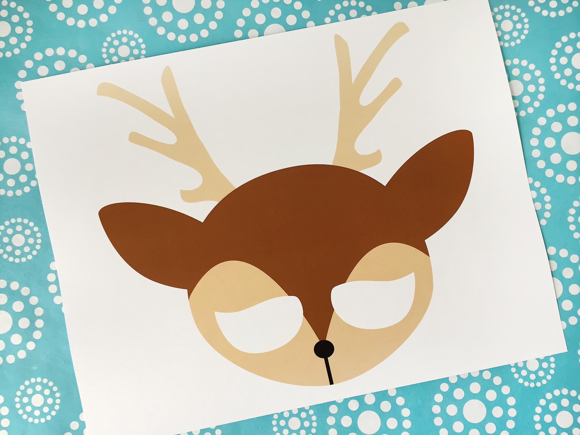 Woodland Printable Masks Printable Masks Fox Deer Butterfly
