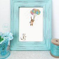 nursery wall art, bunny wall art, bunny nursery decor