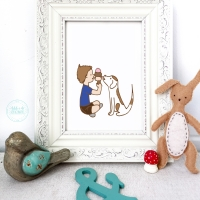 best friends nursery wall decor, nursery wall art, prints, kids decor