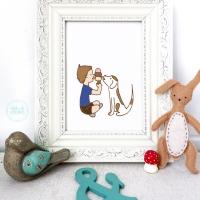 best friends nursery wall decor, nursery wall art, prints, kids decor