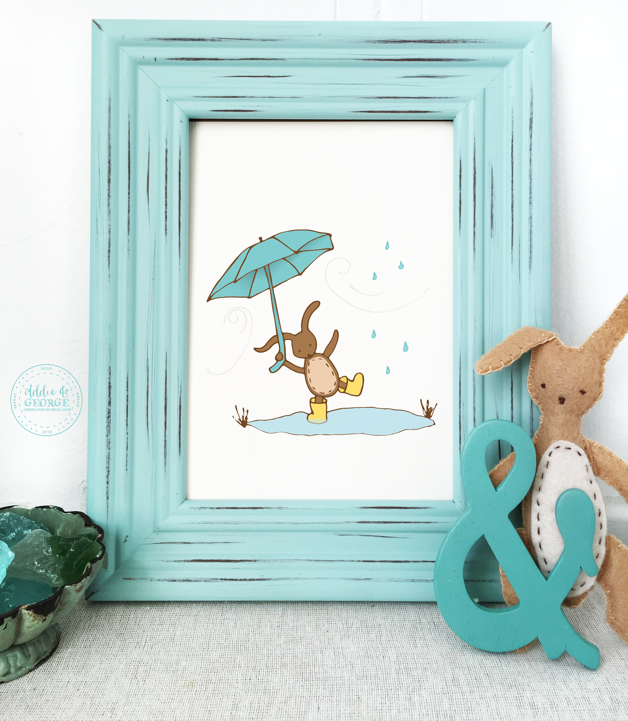 Blustery Day Nursery Wall Decor, Windy Day, Rainy Day
