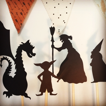 shadow puppets, shadow puppets for kids, villain shadow puppets, toys for imaginative play
