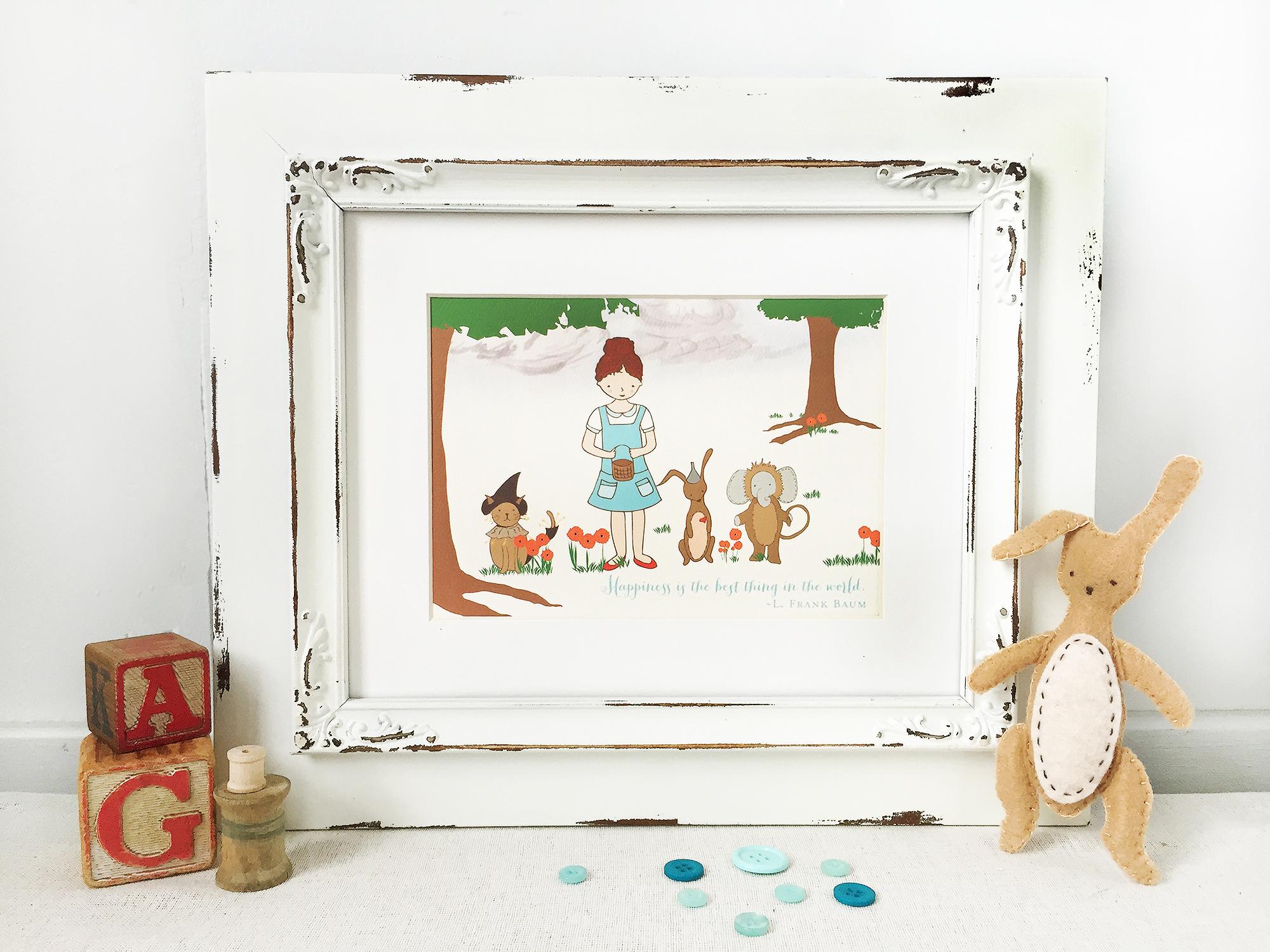 Wizard of Oz Girls Nursery Decor, Wall Decor For Baby