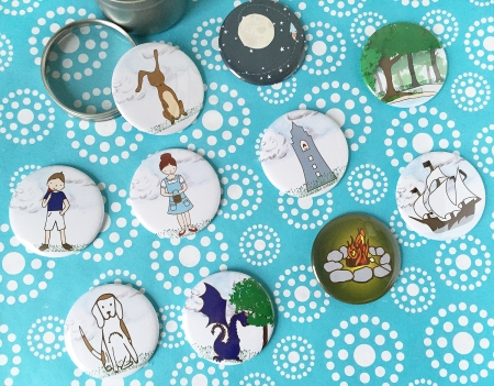 story buttons, story starters for kids, story prompt sets for kids, story stones