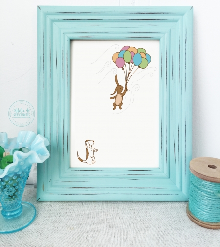 nursery wall art, bunny wall art, bunny nursery decor