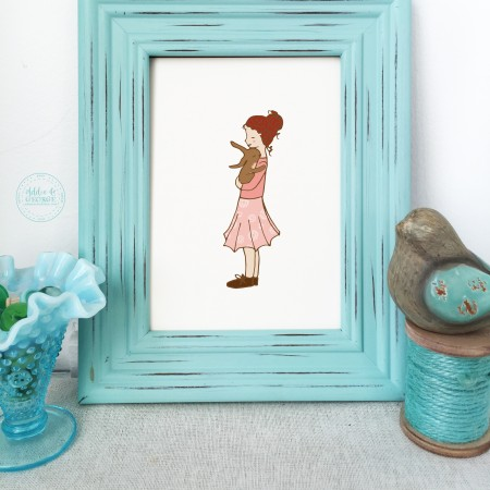 best friend nursery wall art, hugs, nursery wall decor